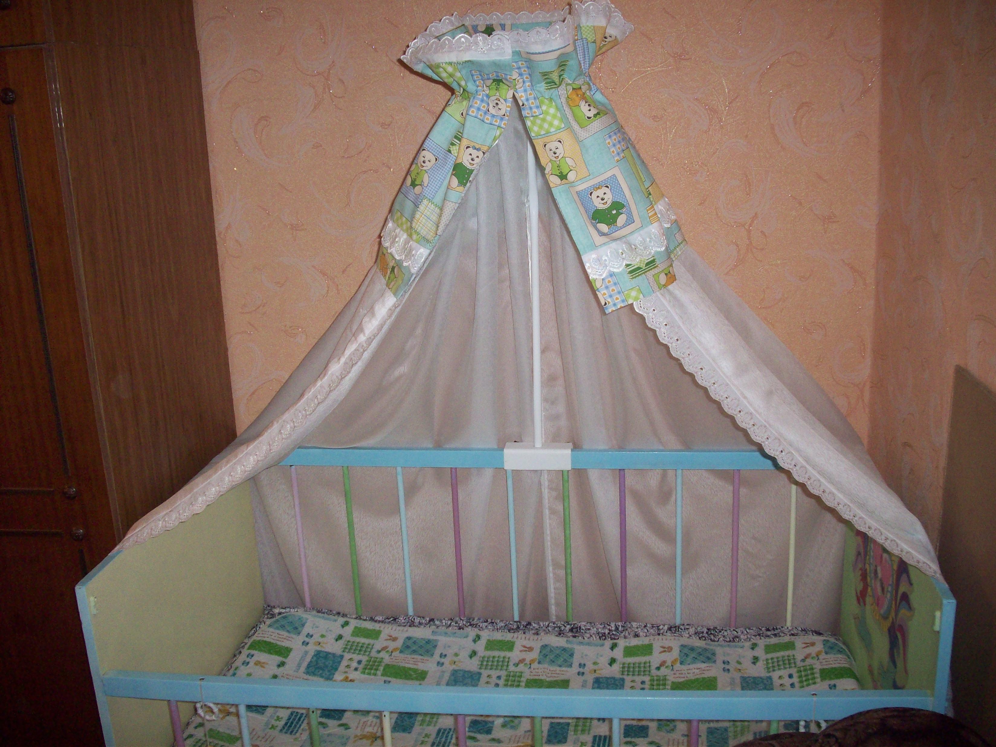 Выкройка балдахина на детскую кроватку своими руками пошагово