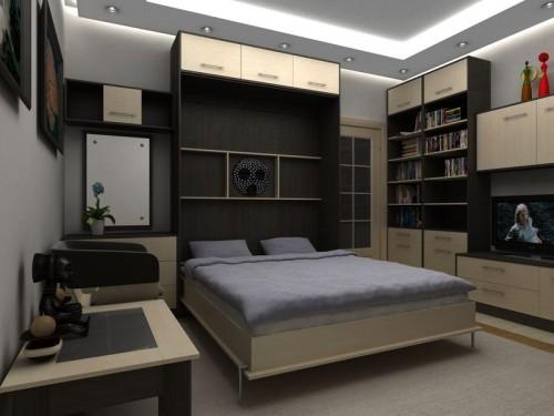 Шкаф-кровать-трансформер с супер-интерьером