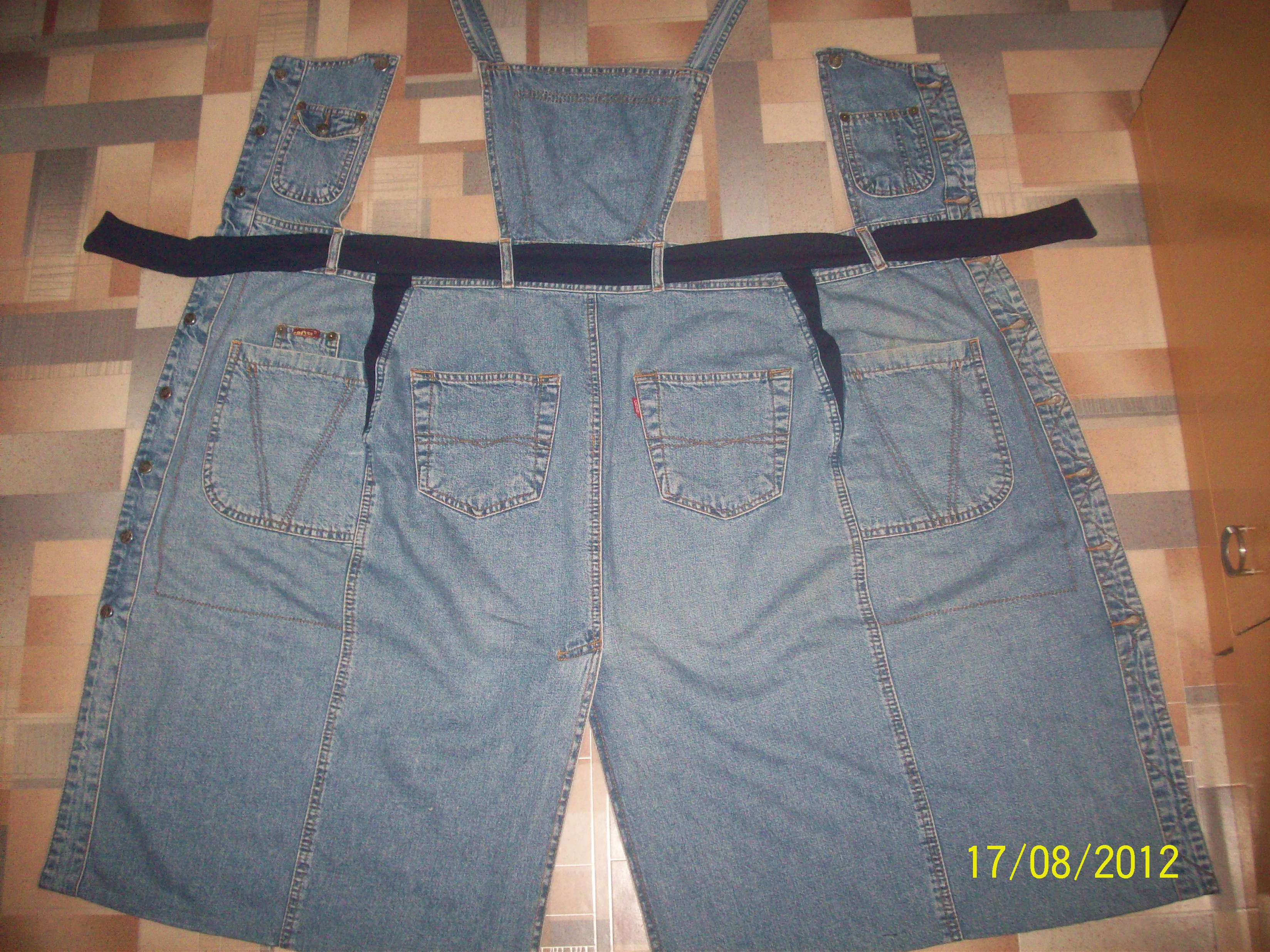 Как сшить джинсовую юбку для девочки из старых джинсов 15