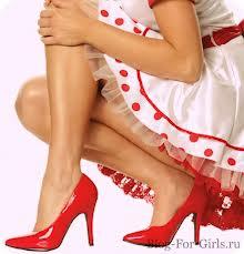 Платье с каблуками