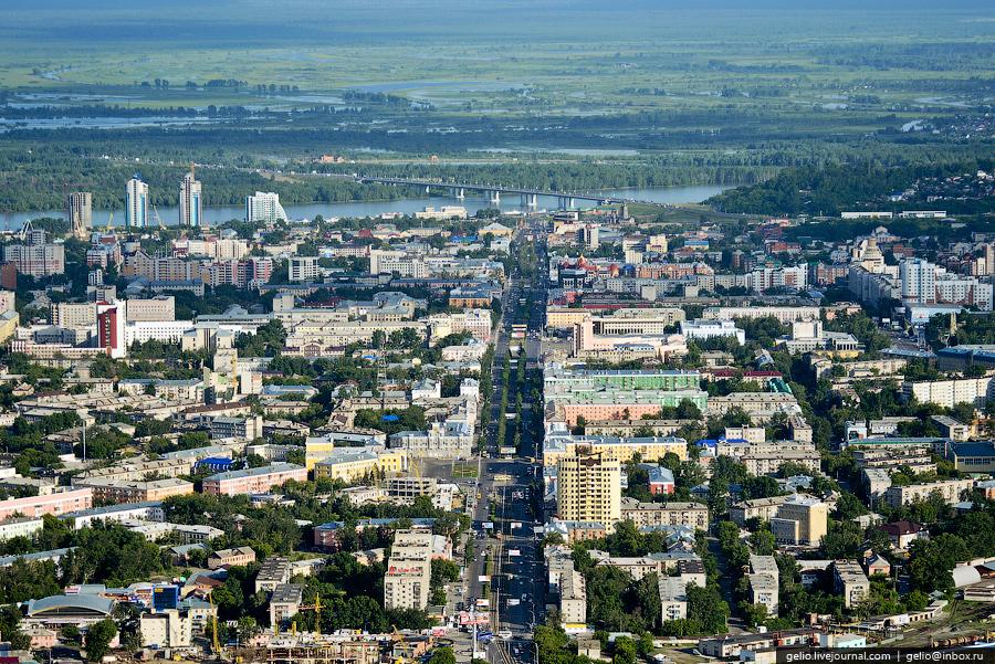 Барнаул с вертолёта