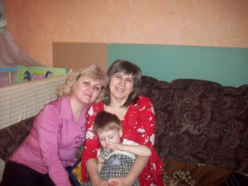 мы с кумой Леной и Егоркой
