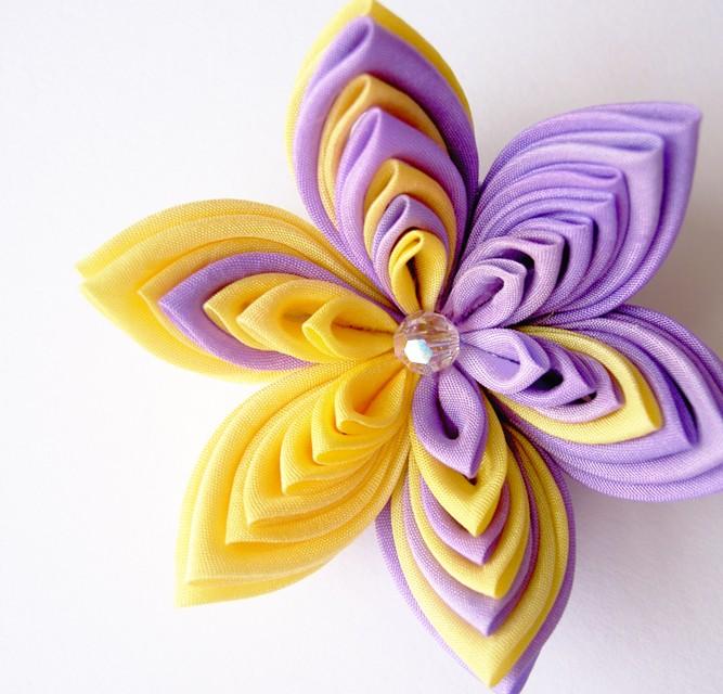 Как своими руками сделать цветы из ткани