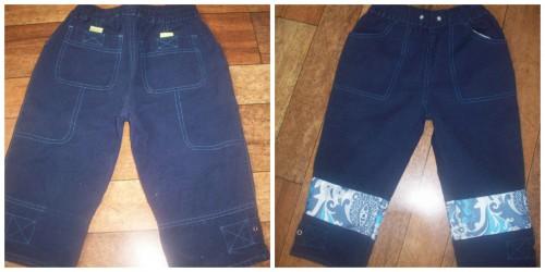 Коллаж детские джинсы