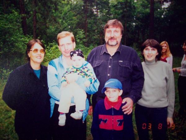 На встрече родственников с братом Сашей и снохой Леной
