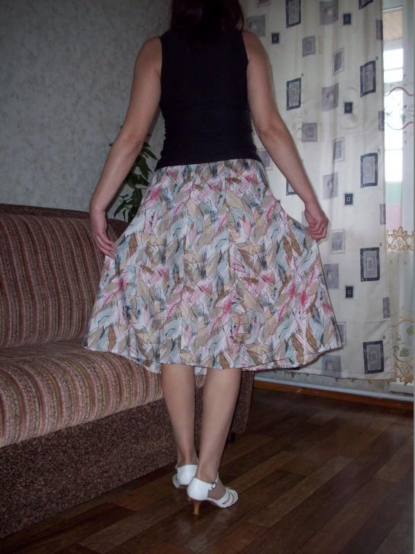 Вид юбки сзади