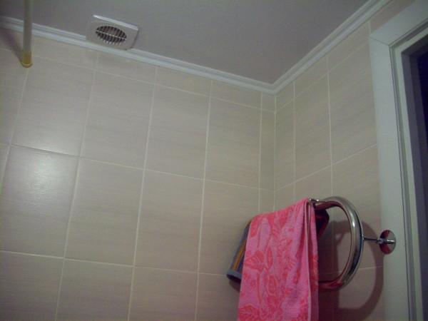 Вентилятор, потолок, полотеничник