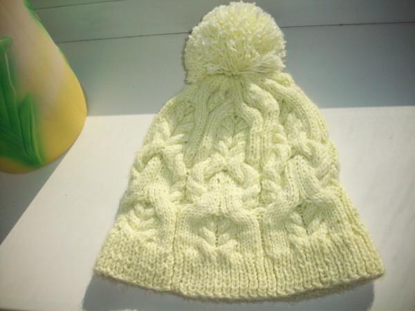 Готовая шапка с косами