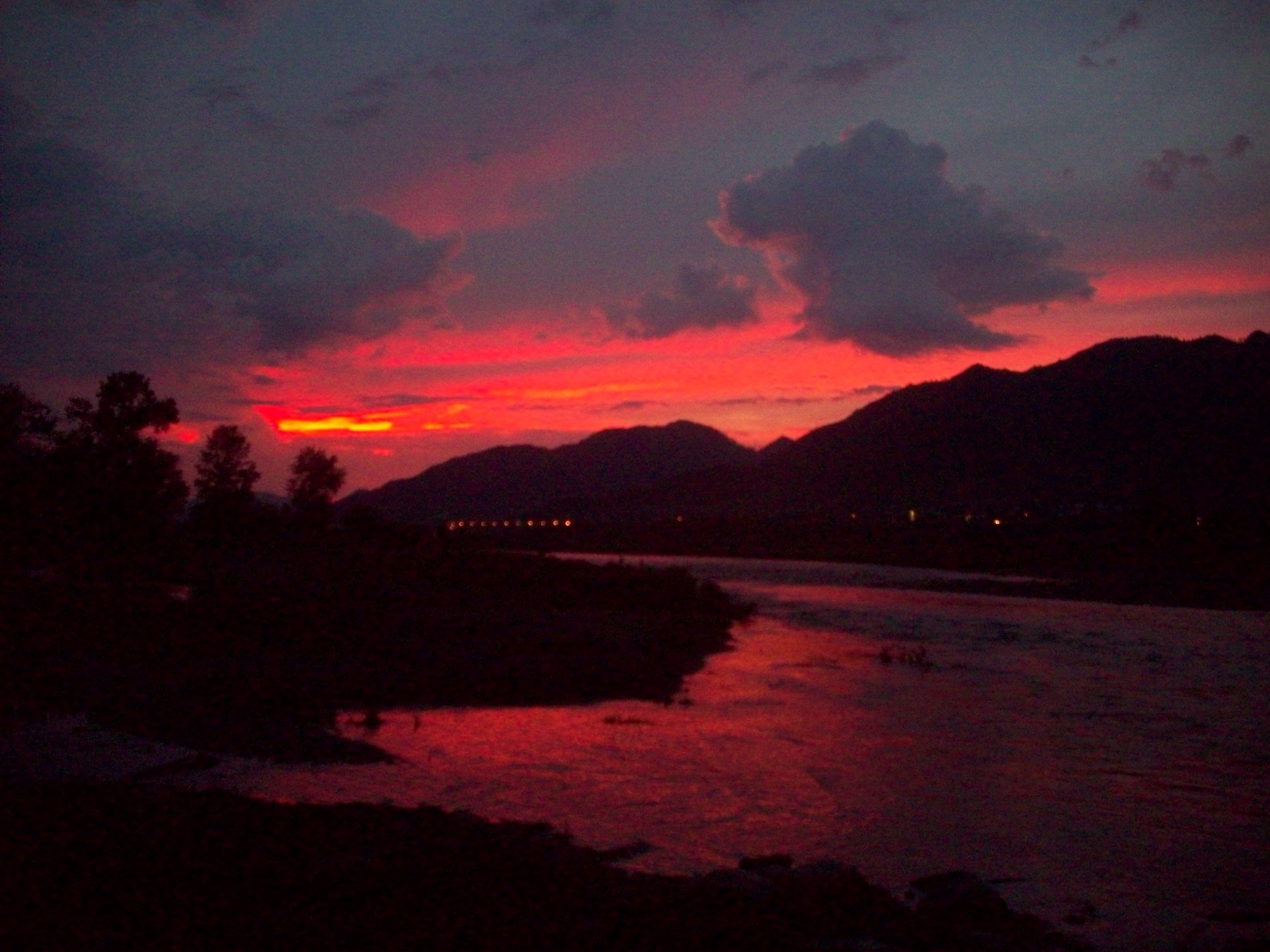 Закат солнца в Онгудае