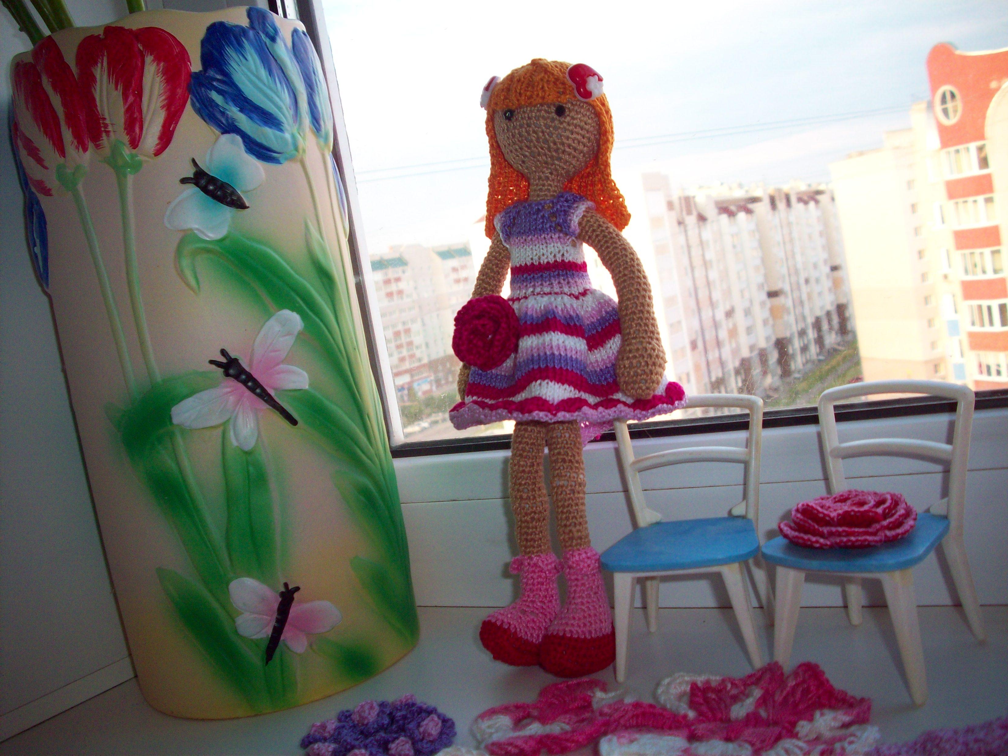 Вязаная кукла Милена