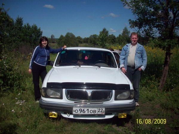 """Наша первая машина """"Волга"""" и мы с Серёжей"""