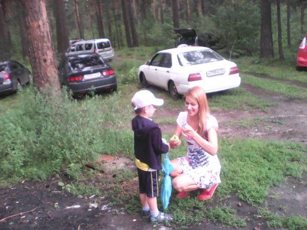 Ирина Вахонина с сыном Ванюшкой